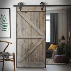 Drzwi przesuwne drewniane w ramie stalowej FABRIC