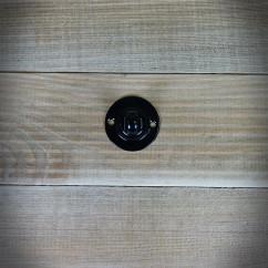 Szyld okrągły WC czarny