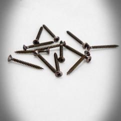 Wkręty z łbem stożkowo-soczewkowym 3,0x30 BRĄZ (10szt)