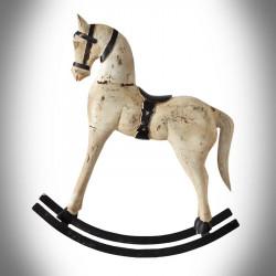 Drewniany koń na biegunach L - WYPRZEDAŻ