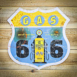 Tabliczki tekoracyjne z USA GAS