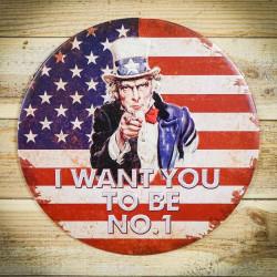 amerykańska tabliczka dekoracyjna retro