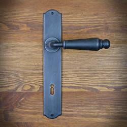 Klamka antyczna OSLO z szyldem na klucz 90mm-OSTATNIE SZTUKI