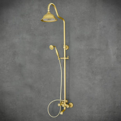 złoty zestaw prysznicowy