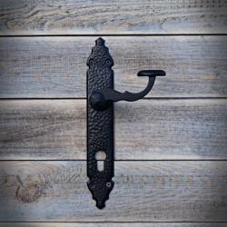 Klamka Retro BARCELONA z szyldem na wkładkę