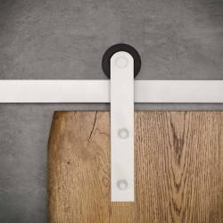 Prowadnica ścienna do drzwi jednoskrzydłowych biała ROKA