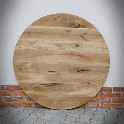 blat dębowy okrągły do stołu