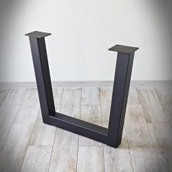 Noga stalowa do stołu TRAPEZ SZEROKI 82x71 cm