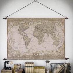 dekoracja mapa świata