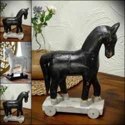 Konie na kółkach drewniane TROJA