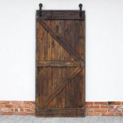 drzwi brązowe drewniane