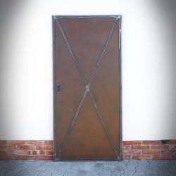 Drzwi przesuwne stalowe RUSTY METAL DUO dwustronne