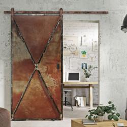 Drzwi przesuwne metalowe RUSTY METAL DUO dwustronne