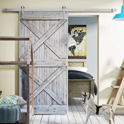 Drzwi przesuwne drewniane w ramie stalowej FIXER