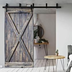 Drzwi przesuwne drewniane w ramie stalowej MASSIVE