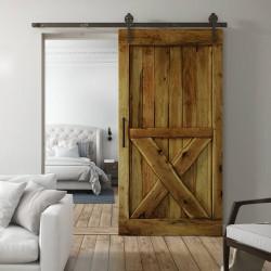 Retro, dębowe drzwi przesuwne BARN