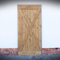 Drzwi przesuwne w ramie stalowej MASSIVE
