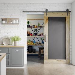 Drzwi przesuwne drewniane dębowe TABLICA niestandard