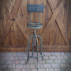 Krzesło barowe INDUSTRIAL twarde