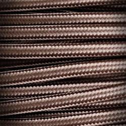 Przewód, kabel elektryczny w oplocie 2x0,75 Brąz Ciemny