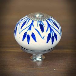 Gałka meblowa ceramiczna LIŚĆ GRANAT