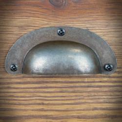 Uchwyt muszla z prasowanej stali 95mm