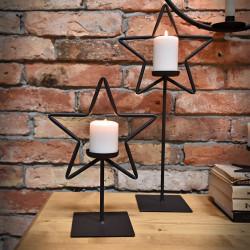 Metalowy świecznik stojący GWIAZDA
