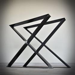 Industrialna noga do stołu, blatu typu X (80x71cm)