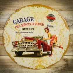 vintage tabliczka garage full service