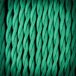 Przewód, kabel elektryczny w oplocie poliestrowym skręcany 2x0,75 Pistacja