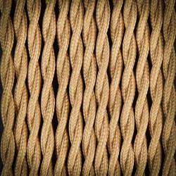 Przewód, kabel elektryczny w oplocie poliestrowym skręcany 2x0,75 CAPPUCINO