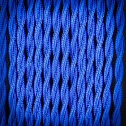 Przewód, kabel elektryczny w oplocie poliestrowym skręcany 2x0,75 Niebieski