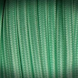 kabel elektryczny w oplocie poliestrowym pistacja