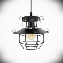 Lampa sufitowa E27 VOLVI czarna