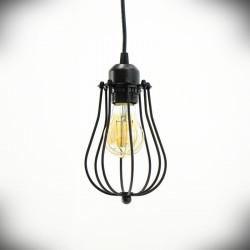 Lampa sufitowa E27 EVAN czarna