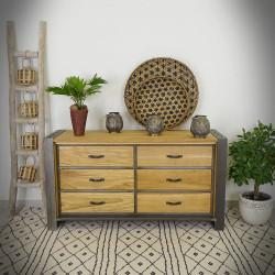Industrialna komoda z drewnianymi szufladami FACTORY LIMITED