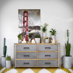 loftowa komoda drewniana szuflady