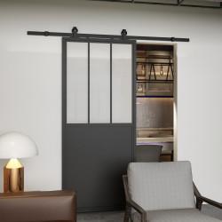 Drzwi przesuwne szklane loftowe AREZZO