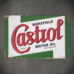 metalowy plakat reklamowy