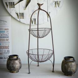 metalowy stojak dekoracyjny