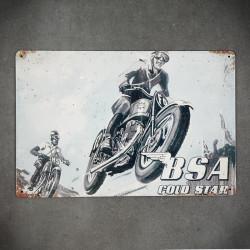metalowy szyld plakat