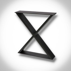 Nogi do ławki metalowe typu X