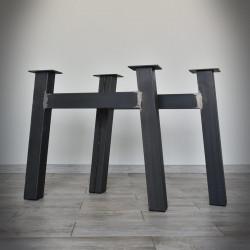 Noga stalowa do stołu typu H 72x71 cm