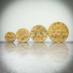 Okragły blat stołu BOZZI, drewniany, sosnowy