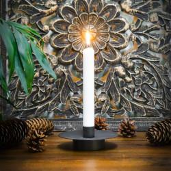 okrągły metalowy świecznik