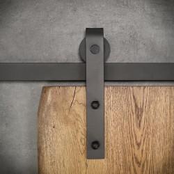 Prowadnica ścienna do drzwi jednoskrzydłowych czarna OLD