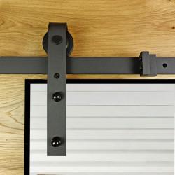 Prowadnica drzwi przesuwnych szklanych czarna OLD GLASS