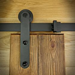 Prowadnica drzwi przesuwnych czarna ROKA-NGB