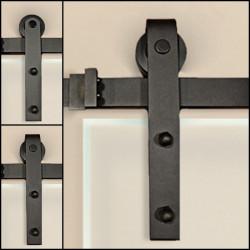 Prowadnice drzwi przesuwnych szklanych GLASS