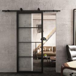 Drzwi przesuwne szklane loftowe VOBI